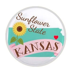 Kansas button